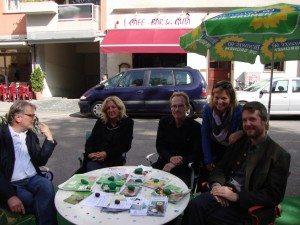 Mit unser OB-Kandidatin Sabine Nallinger, BA-Mitglied Roland Zintl und Landesvorsitzender der Grünen Bayern Dieter Janecek