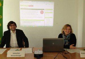 Sebastian Weisenburger und ich auf der Pressekonferenz