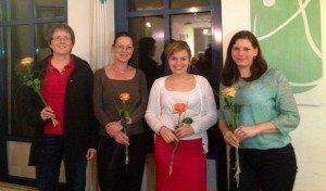 Mit meinen Mitdiskutantinnen Brigitte Wolf (DIe Linke), Claudia Tausend (SPD) und Rebecca Wißner (Piraten)