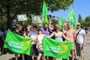 Die Münchner Grünen auf der #stopwachtingus Demo
