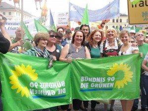 "Grüne Power auf der ""Mir hams satt""-Demo"