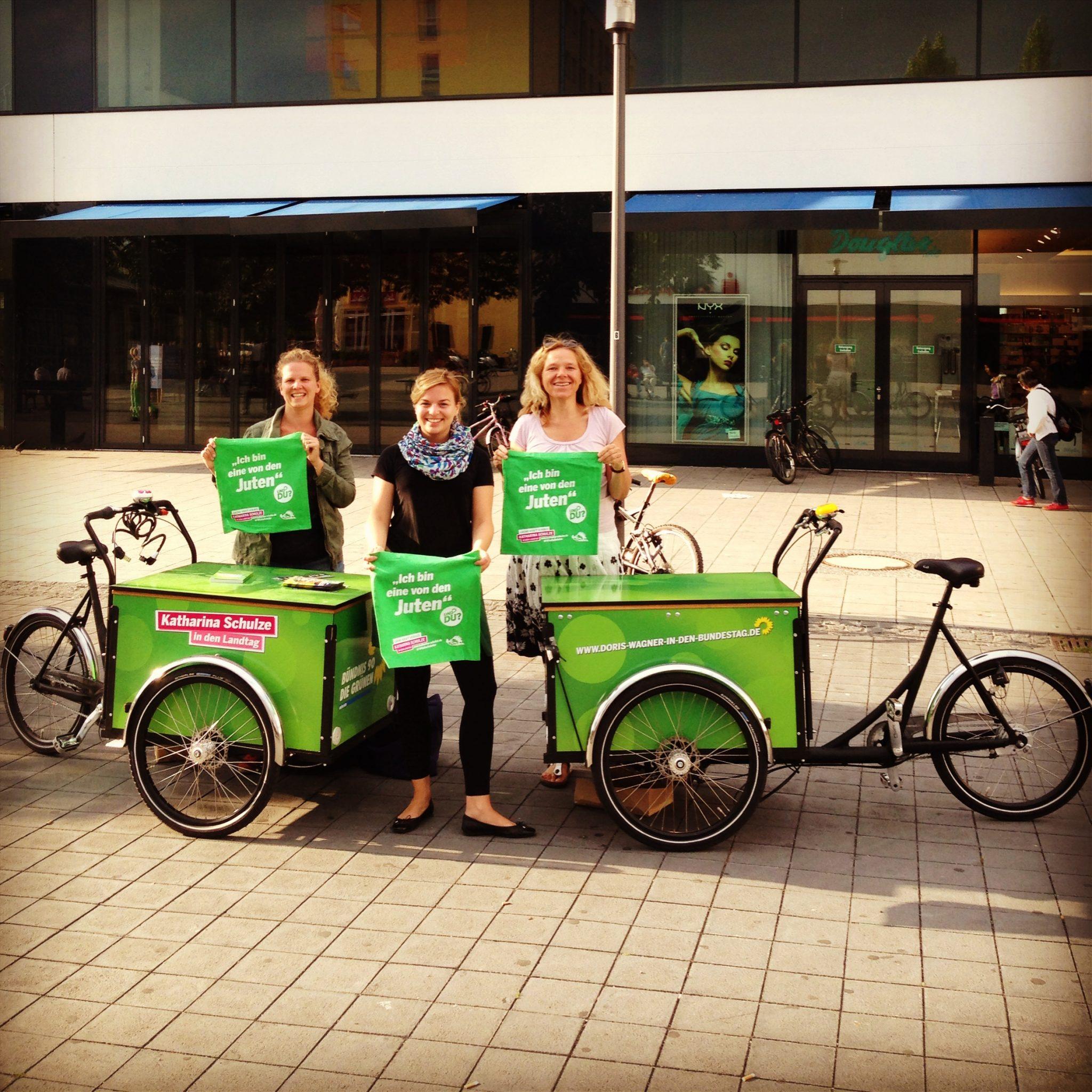 Zusammen mit Bianca Hegemann (Ortsverband Nord-Sprecherin) und Doris Wagner (Bundestagskandidatin)