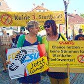 Katharina Schulze und Helga Stieglmeier