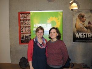 Katharina Schulze und Regisseurin Miriam Fassbender im Monopol Kino