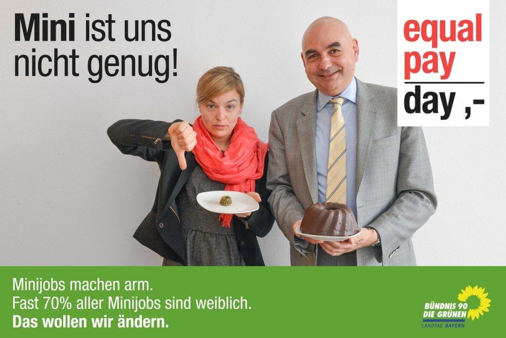 Ein Häppchen für die Frauen, den Kuchen für die Männer? Was auf den ersten Blick schreiend ungerecht wirkt, ist auf dem bayerischen Arbeitsmarkt nach wie vor Realität.