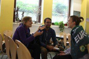 Katharina Schulze im Gespräch mit Maxi Deisenhofer und Terry Reintke