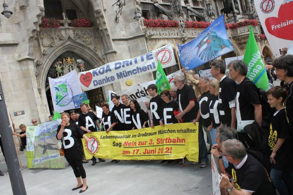 Katharina Schulze bei einer Demonstration gegen die Dritte Startbahn 2014