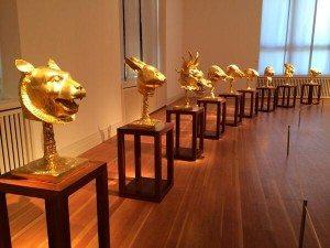 Ein bisschen Kultur hatte zum Glück auch Platz: Bei Ai Weiwei-Ausstellung im Gropius-Bau die Frage: Was ist europäisch, was chinesisch? (Foto: @ulrikegote)