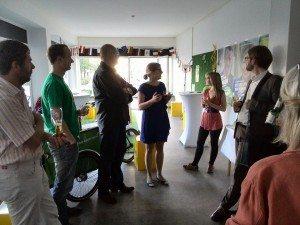 Katharina Schulze, MdL begrüßt die grünen BA-Mitglieder