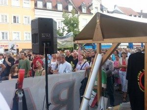2000 Demonstranten kamen zu der Kundgebung gegen die 3. Startbahn