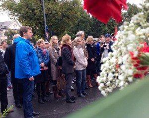 Gedenkfeier zum 34. Jahrestag des Oktoberfestattentats in München