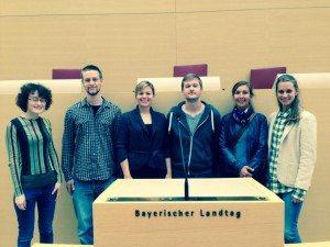Besuch von Stipendiaten der Heinrich-Böll-Stiftung im Bayerischen Landtag