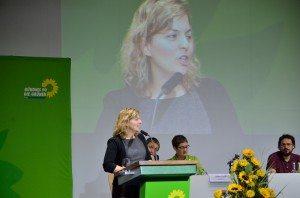 Katharina Schulze gibt den Bericht zum Parteirat auf der LDK 2014
