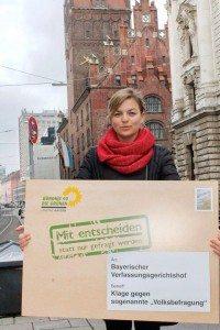 Katharina Schulze, MdL, klagt gegen die geplante Volksbefragung in Bayern