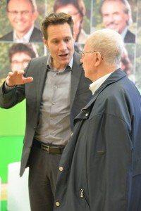 Fraktionsvorsitzender Ludwig Hartmann im Gespräch