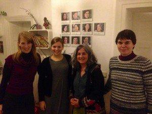 Kathrin Habenschaden, Katharina Schulze, Geschäftsführerin und Hebamme Susanne Braun, Anna Hanisch im Münchner Geburtshaus