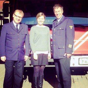 Katharina Schulze besucht die Feuerwache Milbertshofen