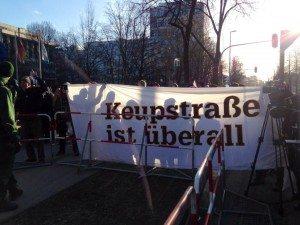 Demo gegen die Nazis vor dem NSU-Gerichtsgebäude