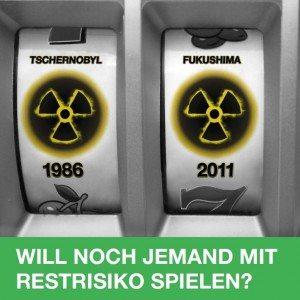 Plakat Restrisiko Fukushima Jahrestag 2015
