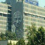 Gandhi ist allgegenwärtig: Das Polizeipräsidium in Delhi