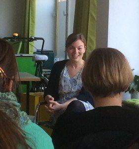 Katharina Schulze in der Diskussion mit dem Publikum