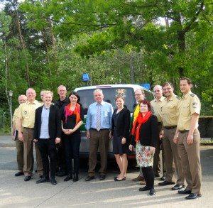 Grüne Abgeordnete zu Besuch beim Polizeipräsidenten Wolfgang Sommer und seinen Kollegen bei der Bereitschaftspolizei in Nürnberg