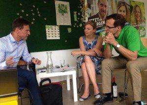 Diskutierten über Precops: Martin Kirsch, Katharina Schulze und Karl Geyer