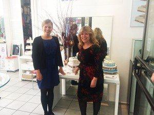 Katnarina Schulze mit Bio-Bäckerin Jana Slanitz