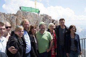 Grüne PolitikerInnen auf der Zugspitze: Protest gegen die G7-Klimapolitik