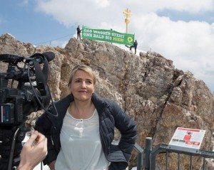 Grünenchefin Simone Peters  kämpft für Klimaschutz