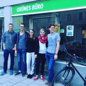 Dominik Krause, Leon Eckert, Vroni Specht, Katharina Schulze, Korbinian Ballweg. Foto: Stephan Vogl