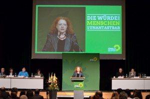 Margarete Bause betonte den Aspekt politische Verantwortung in der Flüchtlingsdebatte © W. Schmidhuber
