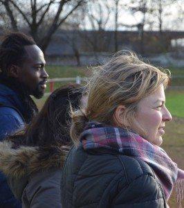 Katharina Schulze beim ESV Neuaubing, der eine eigene Flüchtlingsmannschaft auf die Beine gestellt hat