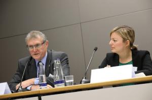 DPolG-Bayern-Vorsitzender Hermann Benker und Katharina Schulze