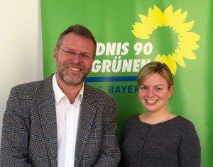 Carsten Matthias vom BTTV mit Katharina Schulze, MdL