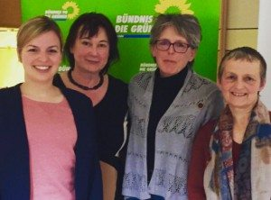 Katharina Schulze, Helga Stieglmeier, Ulli Frank-Meyer und Hanna Ermann in Dorfen.