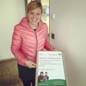 Katharina Schulze in der Heimerer Berufsfachschule