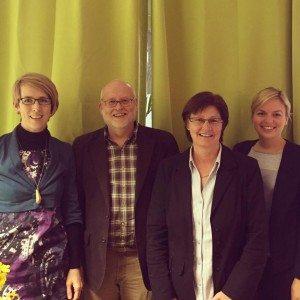 Stadträtin Katrin Hagelschaden, Dr. Edmund Haferbeck von Peta, Rosi Steinberger, MdL, und Katharina Schulze, MdL