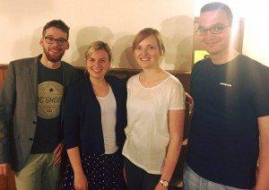 Marvin Ross, Katharina Schulze, Mirjam Körner und Jan Novak