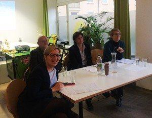 In angeregter Diskussion, Katharina Schulze, Edmund Haferbeck, Rosi Steinberger, Katrin Habenschaden