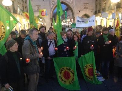 Atom-Mahnwache der Münchner Grünen