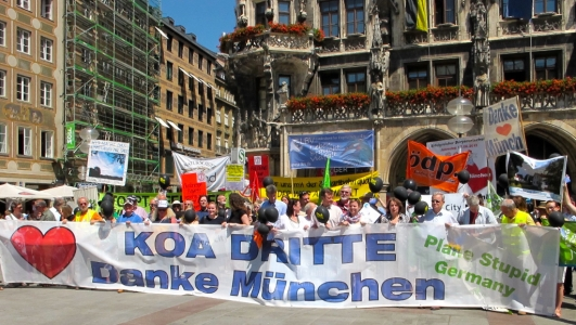 Ein großer Erfolg: München hat in einem Bürgerentscheid die neue Startbahn abgelehnt. Das Münchner Umland dankt!
