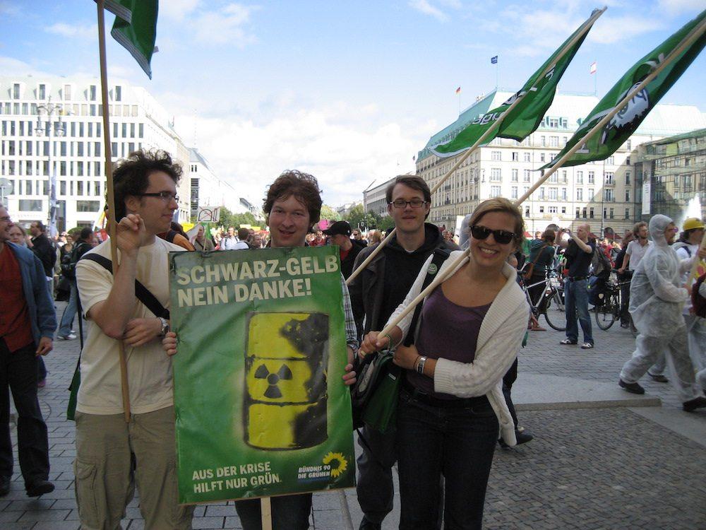 Die Grüne Jugend protestiert gegen Schwarz-Gelb