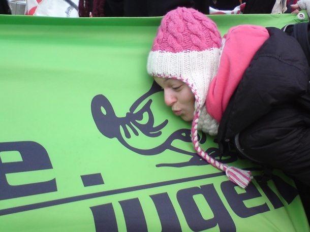 Ein Kuss für die Grüne Jugend