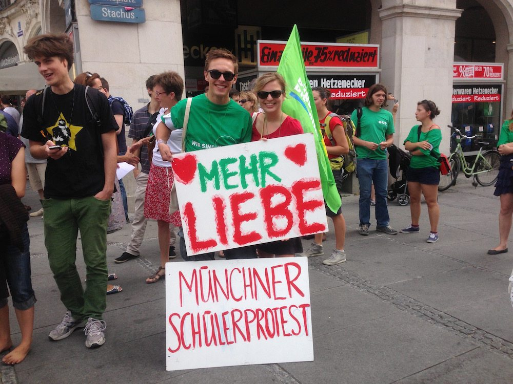 Katharina Schulze unterstützt den SchülerInnen Protest in München
