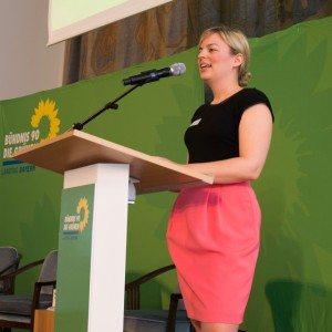 Katharina Schulze bei ihrer Keynote beim 1. Grünen Polizeikongress