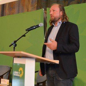Toni Hofreiter bei seiner Keynote beim 1. Grünen Polizeikongress