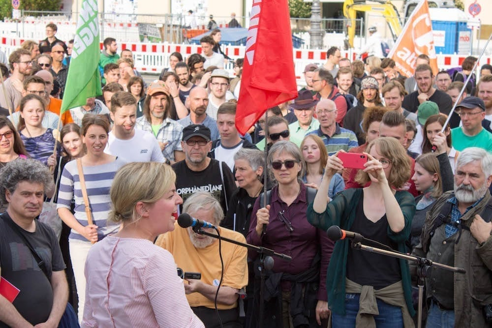 Protest gegen das PAG in München (Mai 2018)