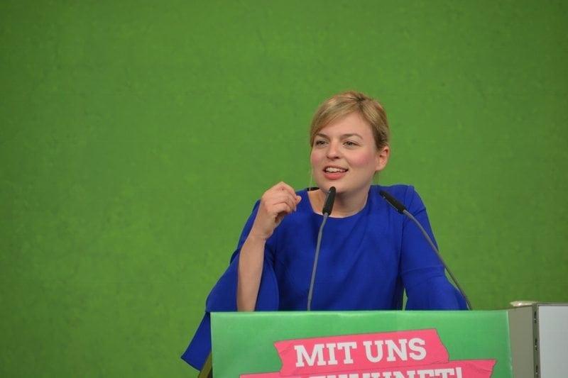 Katharina Schulze beim Programm-Parteitag in Hirschaid. Mit uns die Zukunft!