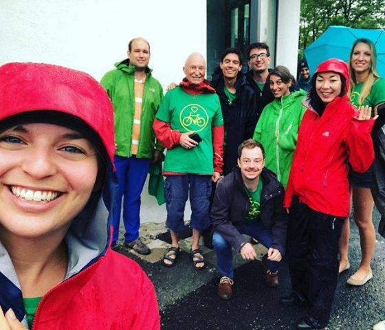 August: Haustürwahlkampf in meinem Stimmkreis, auch bei Regen!